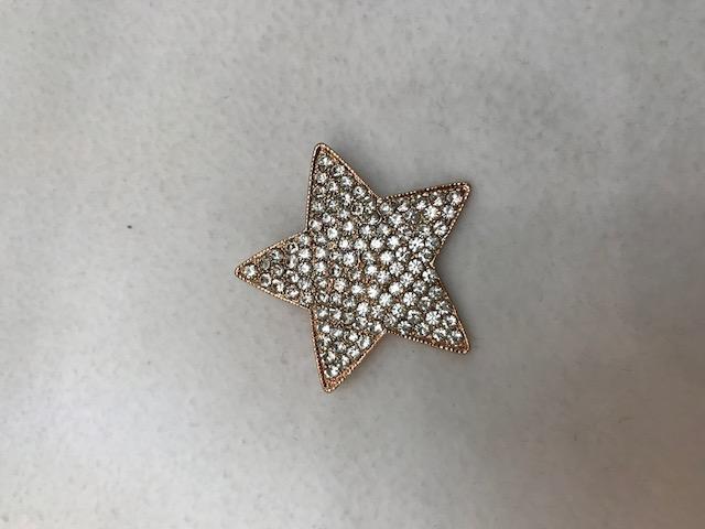 rhinestone brooch - star