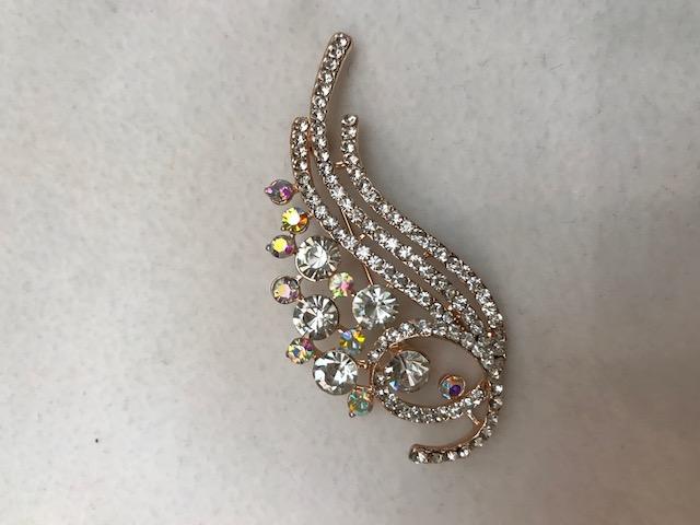 rhinestone brooch